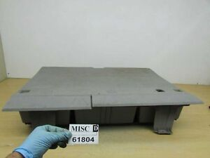 2007 2010 Kia Rondo Rear Trunk Floor Storage Box Bin Tray Tool Shelf Gray Carpet