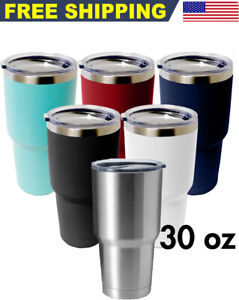Tumbler 30oz Stainless Steel Vacuum Double Wall Insulation Travel Sport Bottle $12.89