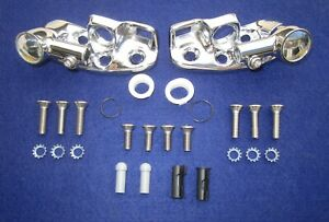 1960 1964 Gm Convertible Sun Visor Supports Stainless Steel Screw Mounting Kit