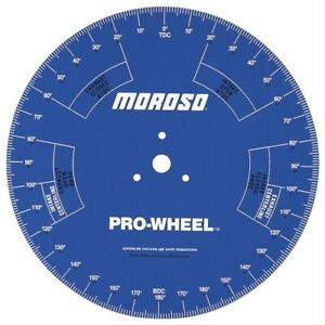Moroso Pro Degree Wheel 18 Inch Diameter Blue With White Numbers 62191