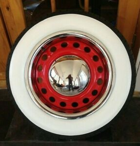 Coker Tire Style 4x15 Tire Rubber White Wall 3 Wide Chevy Bel Air 150 210