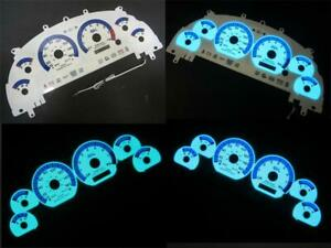 1999 2003 Ford Mustang Cobra Instrument Cluster White Face Glow Gauges 160mph