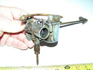 Old Unknown Air Cooled Engine Motor Carburetor Briggs Lauson Military Nice