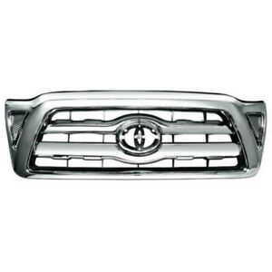 New All Chrome Grille For 2005 2010 Toyota Tacoma To1200268 5310004360