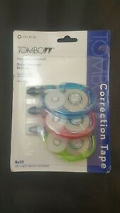 New Tombow Correction Tape Refill pack Of 3 1 6 X 472 Width White Tape