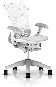 Herman Miller Mirra 2 Chair One Size Fog With Studio White Frame Mrf12