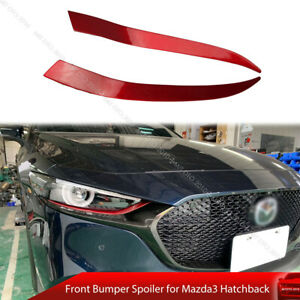 Painted Red Headlight Eyelid Eyebrow For Mazda3 Mazda 3 Bp Hatchback Dto Type