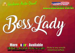 Boss Lady Girl Princess Queen Car Window Vinyl Decal Bumper Sticker