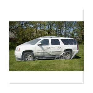 Woodward Wfccc Small Plastic Clear Car Cover Small 17ft To 19ft Each