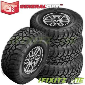 4 General Grabber X3 Lt255 75r17 111 108q 6 ply c Off road Jeep Truck Mud Tires