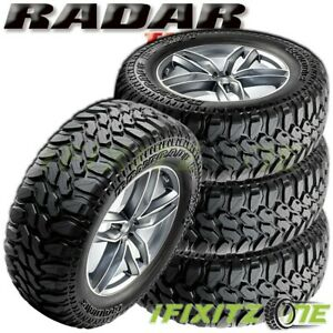 4 Radar Renegade R7 Lt275 65r20 126p White Letter Truck M t Mud Tires