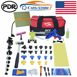 Paintless Hail Removal Dent Puller Lifter Pdr Tools Tap Hammer Repair Kits W bag