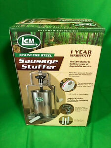 Lem stainless Steel 5 Lb Vertical Sausage Stuffer All Metal Gears
