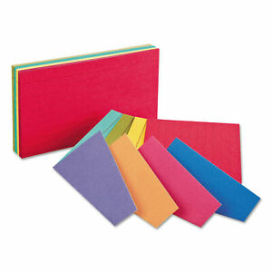 Oxford Extreme Index Cards 4 X 6 Two tone Assorted 100 pack 04747
