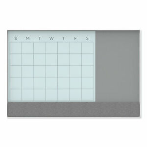 U Brands Dry Erase Combo Board 36 X 24 Month View White Surface