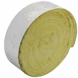 Home Intuition 25 Feet Foiled Fiberglass Pipe Insulation Wrap 3 Wide X 1 Thick