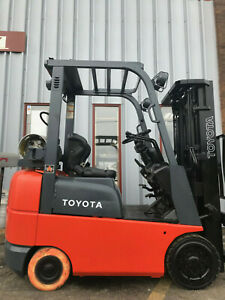 2006 Toyota 7fgcu18 3500lb Cushion Tire Forklift Lease 223