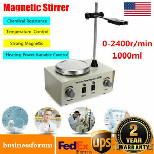 Hot Plate Magnetic 79 1 Stirrer Mixer Stirring Lab 1000ml Dual Control Usa Stock