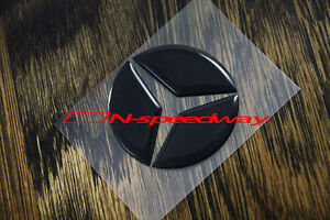 For Mercedes 10 16 W212 E Class Steering Wheel Emblem Black Insert Sticker 49mm