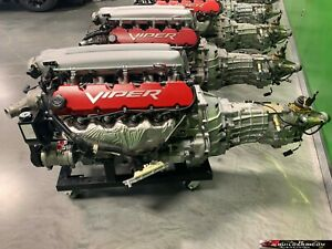 2004 Dodge Viper Complete Engine Package W Ecu And Wiring 16 200 Miles 04395