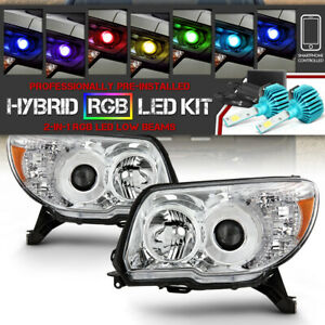 vipmotoz Rgb Led Bulb Left right Projector Headlight For 06 09 Toyota 4runner