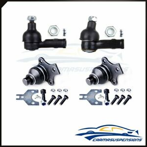For 1988 99 Volkswagen Jetta Golf 4x New Front Ball Joint Outer Tie Rod End Kit