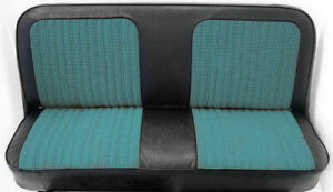 67 72 Chevy Gmc C10 Truck Blue Black Houndstooth Bench Seat Cover Made In Usa