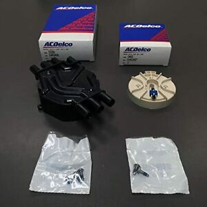 New Acdelco Rotor D465 10452457 And Distributor Cap 10452458 D328a 4 3l Oem Kit