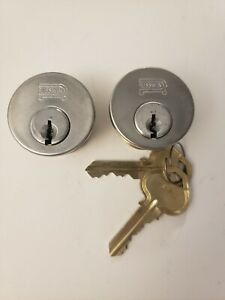 Russwin Cylinders X2pack 1 Keyed Alike 2 Keys Total Silver Color