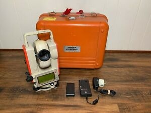 Pentax Pcs 325 Total Station With Case Charger And Battery