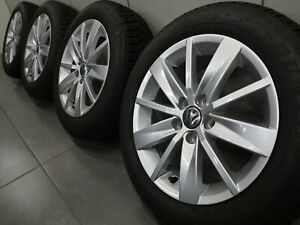 15 Inch Winter Tyres Vw Polo V 6r 6c Tosa Rims 6c0601025 Alloy Wheels