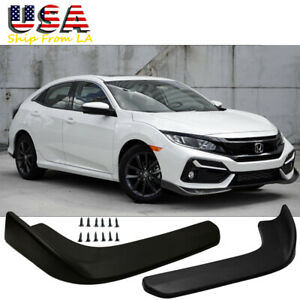 Jdm Sport Front Bumper Wing Spolitter Canard Diffuser Protector For Honda Civic