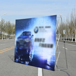 Pop Up Booth Tension Fabric Display Trade Show Straight Backdrop Frame 8 8ft Usa