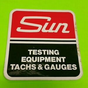 Nos Sun Electric Service Equipment Tune Up Machine Cabinet Logo Decal Testing
