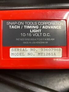 Snap on Timing Light Mt1261a Computerized Tach Advanced Automotive Tool W Case