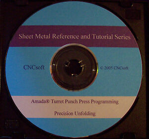 Amada Cnc Turret Programming Reference And Tutorial Series Cd G code Unfolding