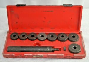 Snap On A158b Heavy Duty 10 Piece Bushing Driver Set