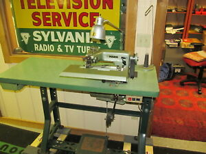 Maier 241 1 2 Blind Stitch Industrial Sewing Machine Table Motor Very Nice