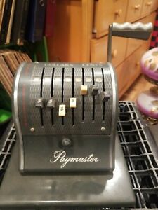Vintage Paymaster Check Writer With Case Works No Key