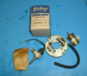 Mallory Nos Dual Point Distributor Micro Electric Advance Kit 25900 A Gasser