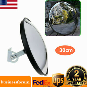 30cm Wide Angle Security Convex Pc Mirror Outdoor Road Traffic Driveway Safety