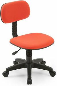 Armless Task Chair Classic Computer Desk Swivel Back Seat Office Dorm Kid Red