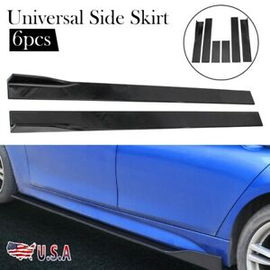 Universal Car Side Skirt Extension Rocker Panel Splitters Lip Fit Bmw Audi Honda