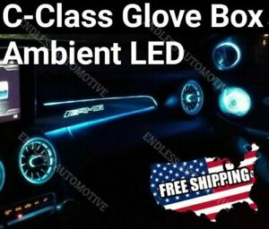 mercedes Led Passenger Glove Box Amg Trim Ambient Led Light For Glc And C Class