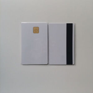 20 Blank Smart Card With Sle4428 Chip Magnetic Strip Hico 3 Track Therma Pvc