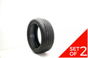 Set Of 2 Used 245 40r18 Pirelli Cinturato P7 Ao 93h 6 5 32