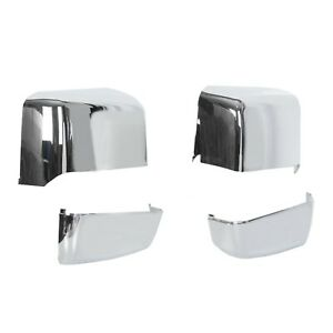 For 2014 2019 Chevy Silverado Gmc Sierra Chrome Gm Tow Mirror Cap Cover New