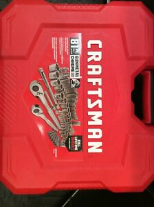 Craftsman 81 piece Standard Sae And Metric Chrome Mechanic s Socket Set