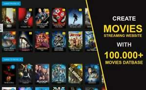 Create A Movies Series Streaming Website Based On Wordpress With Over 100k Mov