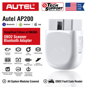 2020 Autel Maxi Ap200 Full System Bluetooth Obdii Scanner Car Diagnostic Adapter